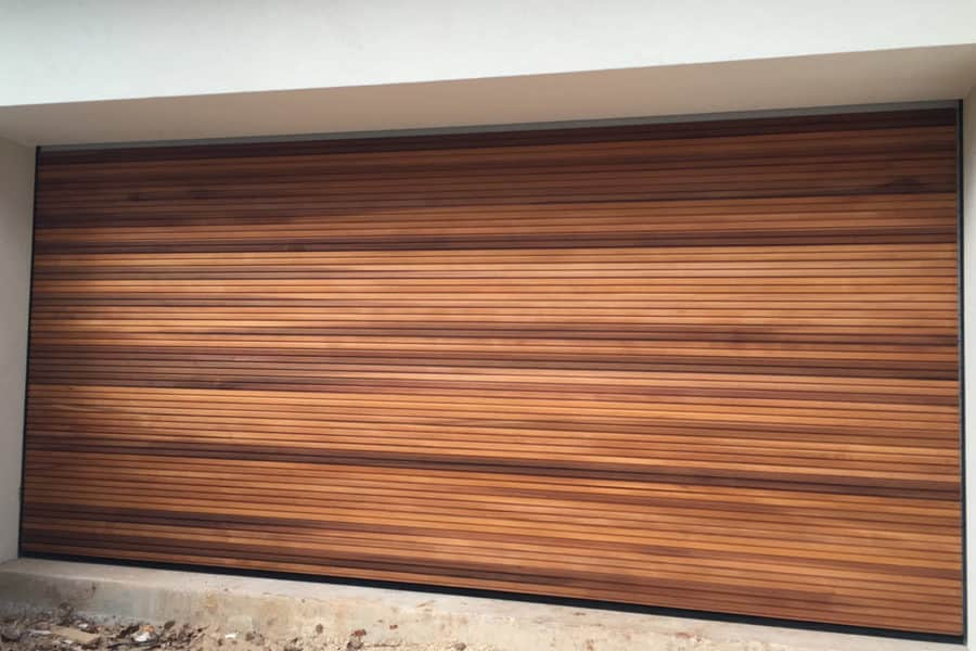 175 Industrial Insulated Sectional, Western Red Cedar Garage Door